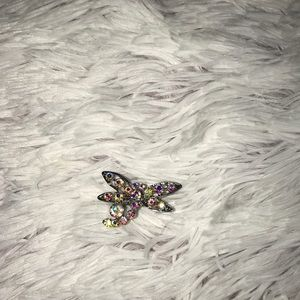Sparkly dragonfly ring